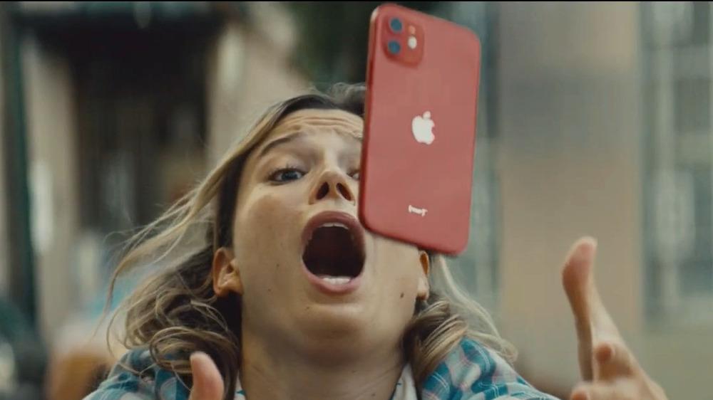 Falling iPhone
