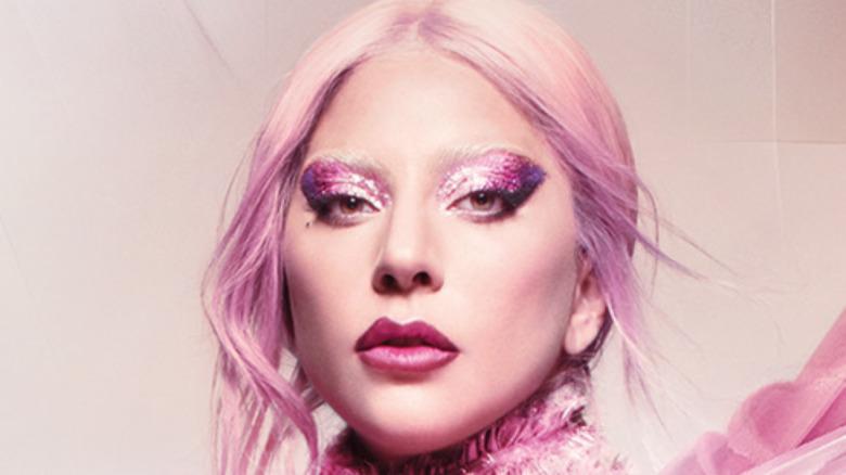 Lady Gaga with pink hair