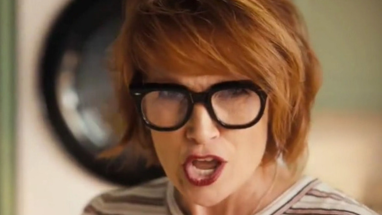 Redheaded actress in an LG commercial