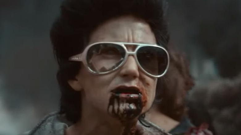 Elvis zombie looking for flesh