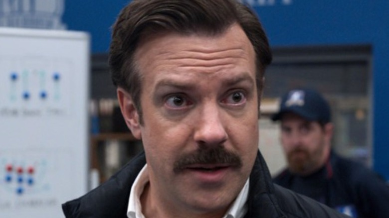Ted Lasso focused expression