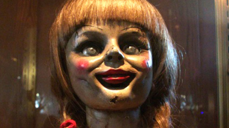Annabelle doll from The Conjuring up close