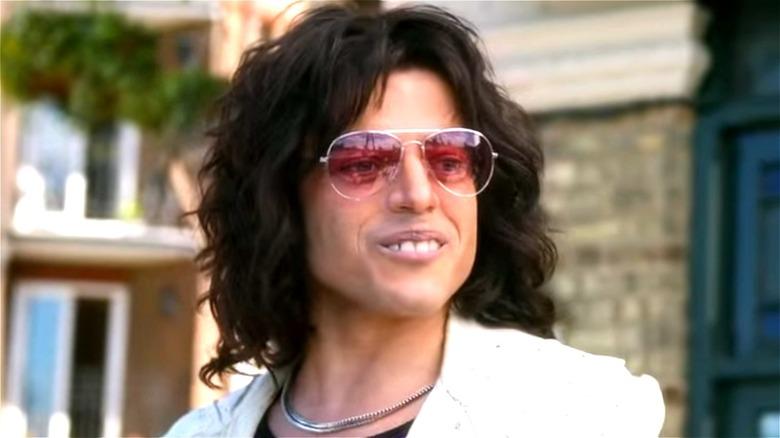 Freddie Mercury wearing sunglasses