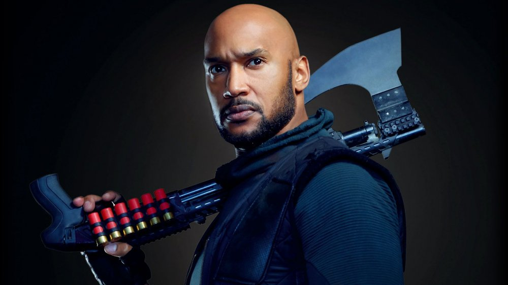 Henry Simmons as Mack and his shotgun axe on Marvel's Agents of S.H.I.E.L.D.