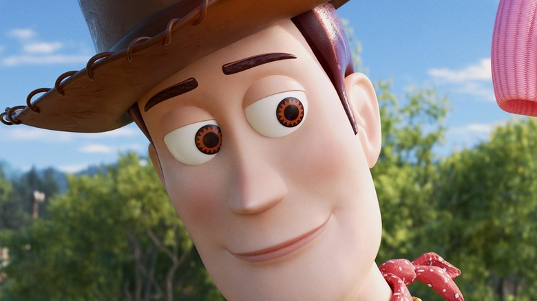 Woody looking thoughtful in Toy Story 4