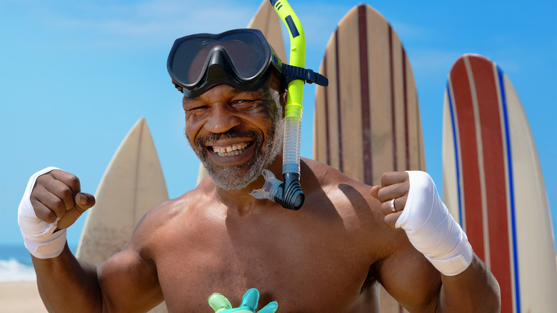Mike Tyson in Tyson Vs. Jaws: Rumble On The Reef