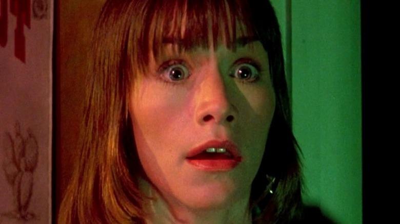 "Caroline Williams as Vanita ""Stretch"" Brock in The Texas Chainsaw Massacre 2"