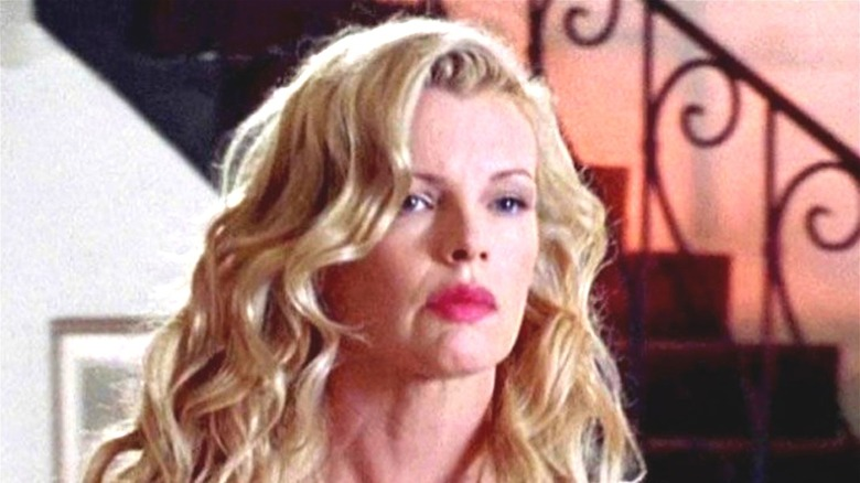 Kim Basinger frowning in L.A. Confidential