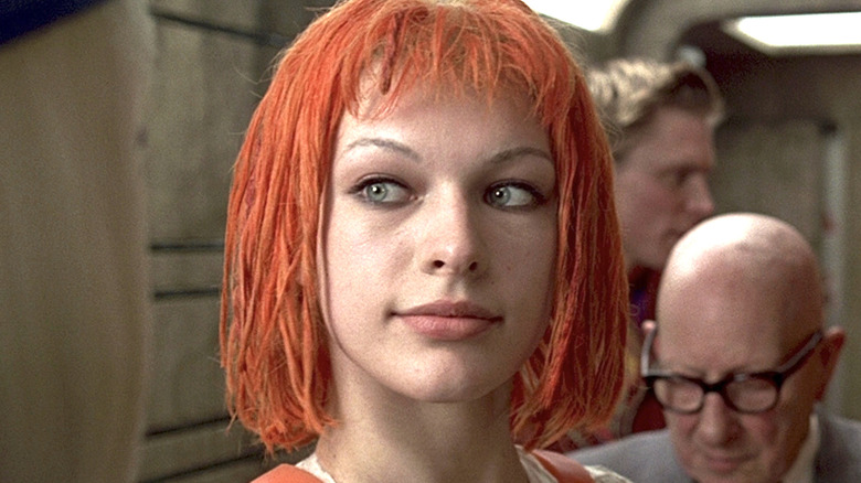 Leeloo smiling The Fifth Element
