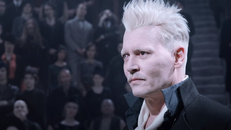 Johnny Depp as Grindelwald in Fantastic Beasts: The Crimes of Grindelwald