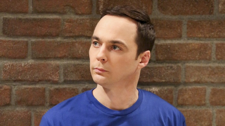 Sheldon Cooper stares in The Big Bang Theory