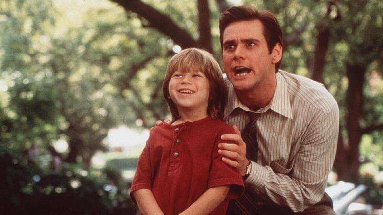 Jim Carrey and Justin Cooper in Liar Liar
