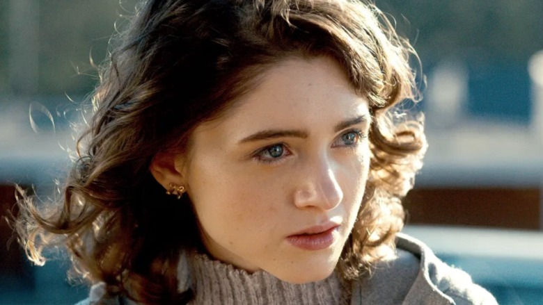 Natalia Dyer looking serious