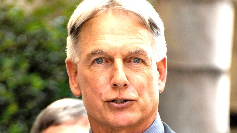 A close up of Mark Harmon