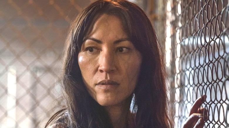 Yumiko 'The Walking Dead' looking sideways