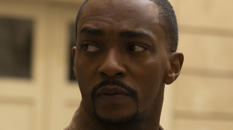Anthony Mackie looking offscreen