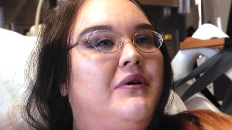 Samantha Mason in the hospital