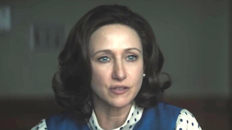 Vera Farmiga wearing polkadot shirt