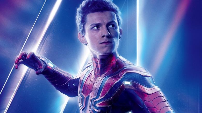 Tom Holland Spider-Man Avengers Infinity War poster
