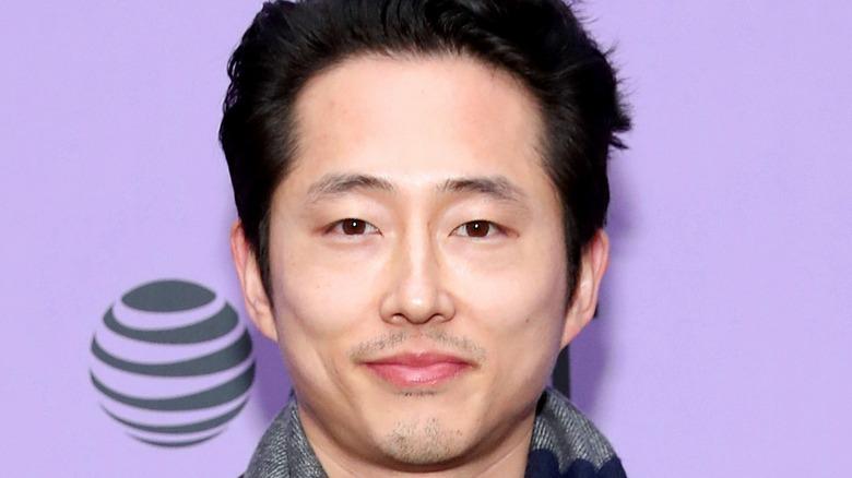 Steven Yeun Red Carpet Smiling