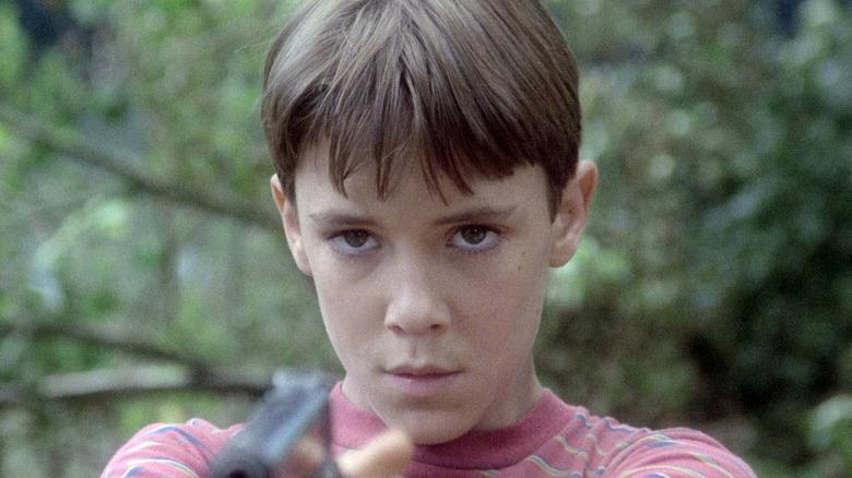 Gordie LaChance with gun