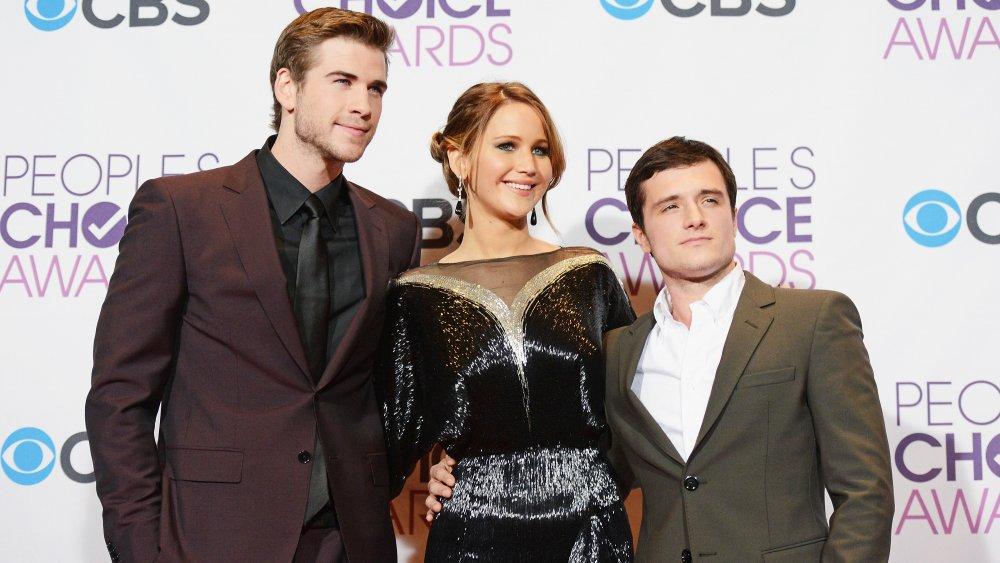 Liam Hemsworth, Jennifer Lawrence, and Josh Hutcherson