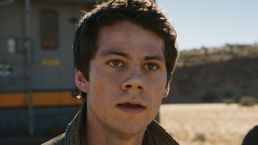 Dylan O'Brien glares