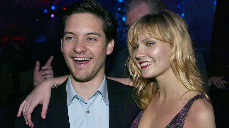Kirsten Dunst and Tobey Maguire at an event for Spider-Man (2002)