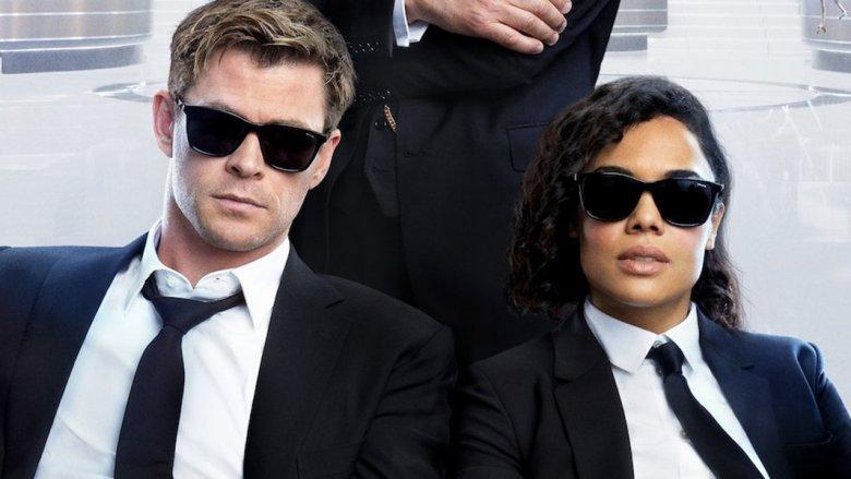 Chris Hemsworth and Tessa Thompson Men in Black: International poster
