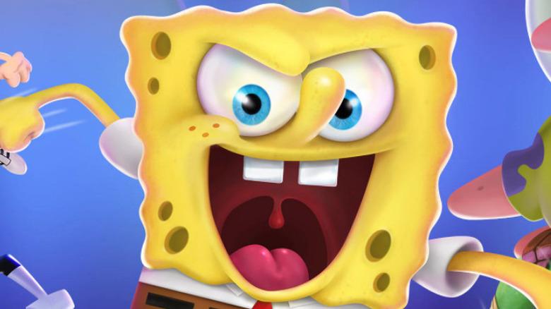 Spongebob glares