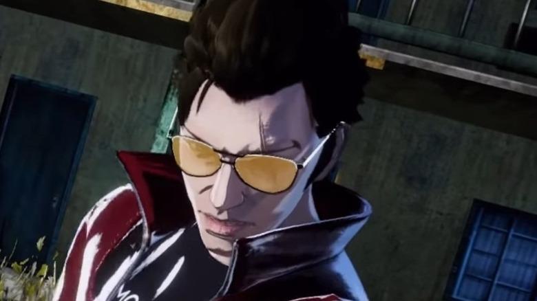 Travis shades red jacket