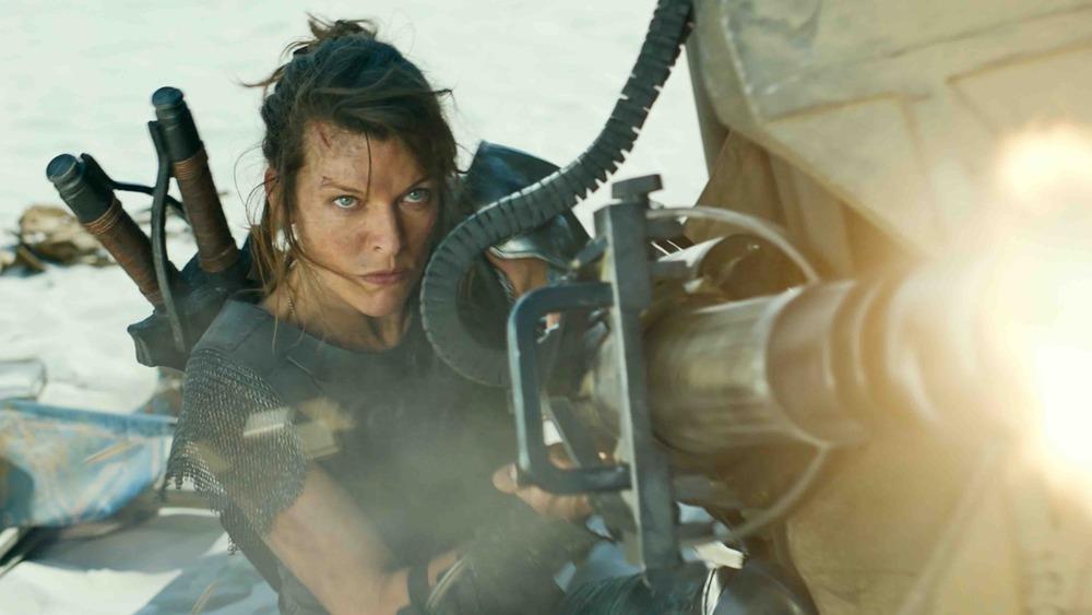 Natalie Artemis shooting a gun