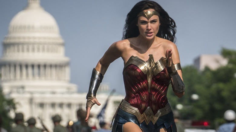 Gal Gadot as Wonder Woman running