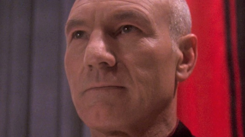 Jean-Luc Picard staring