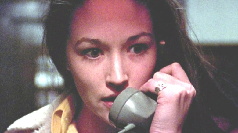 """Olivia Hussey on the phone in """"Black Christmas"""""""