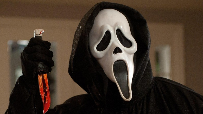 Ghostface holding a knife