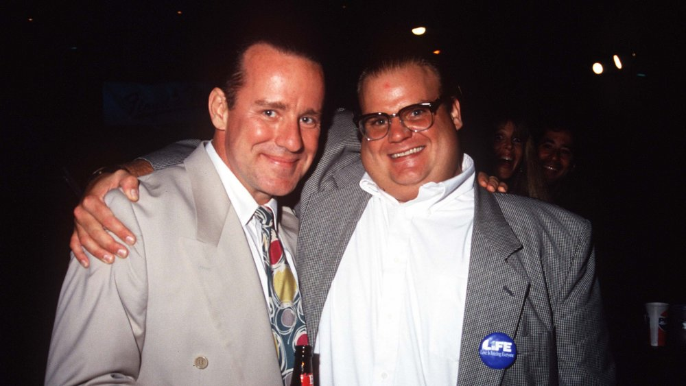 Phil Hartman with Chris Farley in 1993