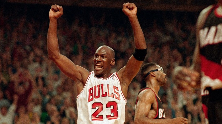 Michael Jordan in his last championship run as documented in The Last Dance