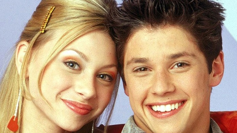 Aly Michalka and Raviv Ullman pose for Phil of the Future promo