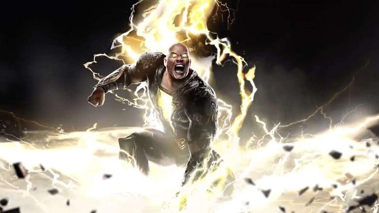 Concept art of Dwayne Johnson as Black Adam