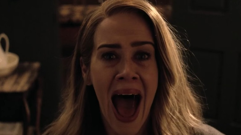 "Sarah Paulson In ""American Horror Story"" screams"
