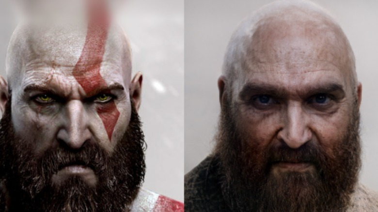 God of War Kratos and AI Dad Kratos