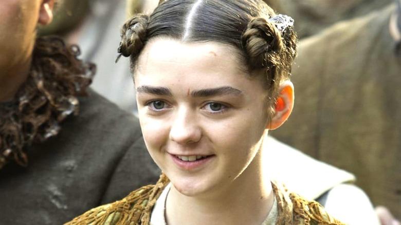 Arya with bun hair
