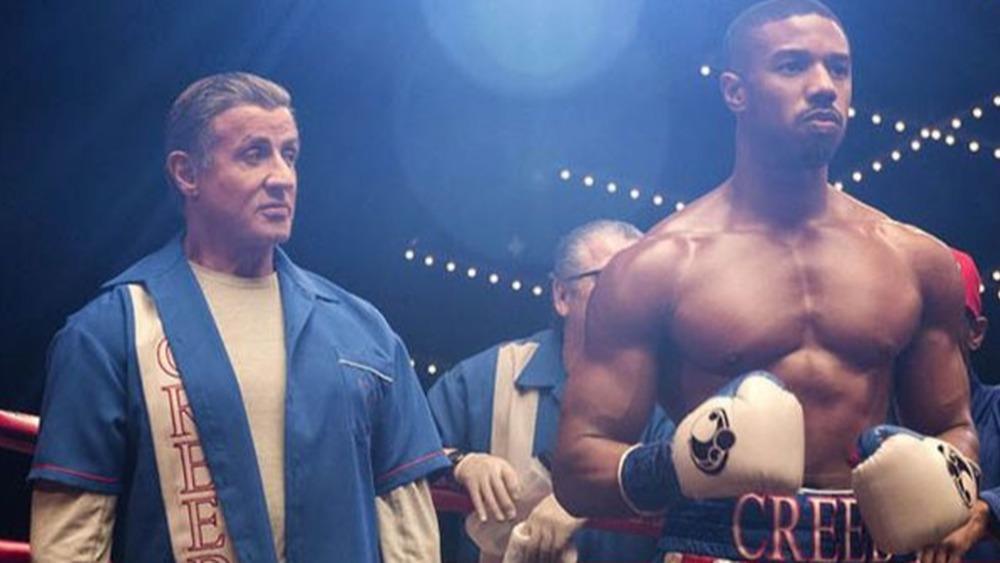 Rocky Balboa and Adonis Creed boxing