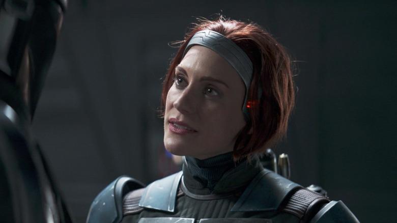 Katee Sackhoff as Bo-Katan Kryze on The Mandalorian