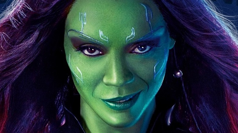 Zoe Saldana as Gamora in Guardians of the Galaxy Vol. 2