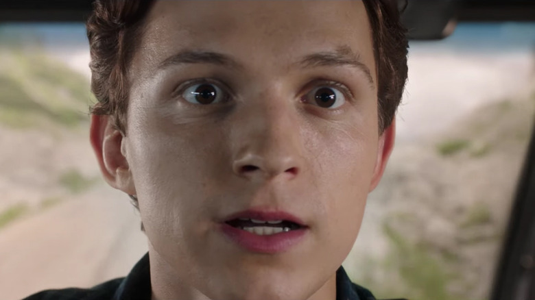 Tom Holland Spider-Man: Far From Home surprised
