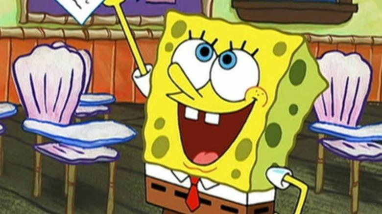 Tom Kenny as SpongeBob SquarePants in The SpongeBob SquarePantsMovie