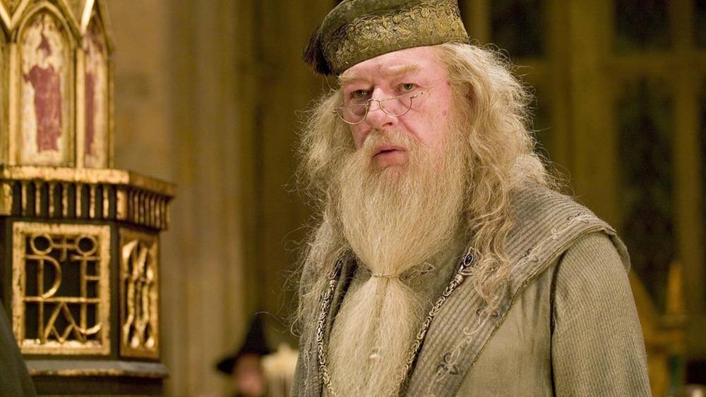 Albus Dumbledore staring