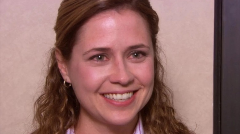 Pam Beesly teary smile